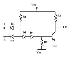 Two input DTL NAND Gate